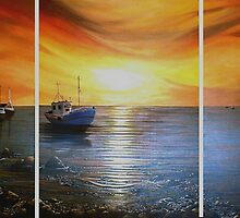 Boating at Sunset by Cherie Roe Dirksen
