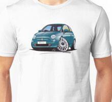 New Fiat 500 Jive Blue Unisex T-Shirt