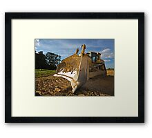 Dirty yellow bulldozer Framed Print