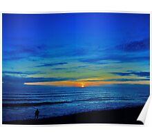 Sunset over fisherman Poster