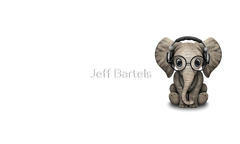 Quot Cute Baby Elephant Dj Wearing Headphones And Glasses