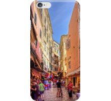 Busy Corfu Alley iPhone Case/Skin