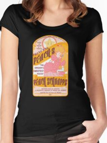 Princess Peach Schnapps  Women's Fitted Scoop T-Shirt