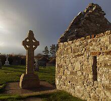 Clonmacnoise monastic settlement  by John Quinn