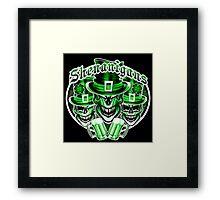 Laughing Leprechaun Skulls: Shenanigans 2 Framed Print