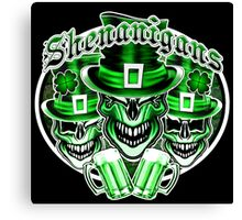Laughing Leprechaun Skulls: Shenanigans 2 Canvas Print