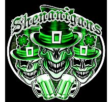 Laughing Leprechaun Skulls: Shenanigans 2 Photographic Print