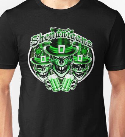 Laughing Leprechaun Skulls: Shenanigans 2 Unisex T-Shirt