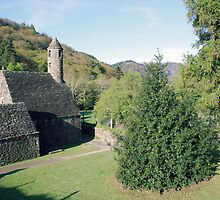 Glendalough church by John Quinn