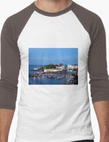 Tenby Harbour.Wales. Men's Baseball ¾ T-Shirt