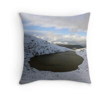 Mangerton corrie lake Throw Pillow