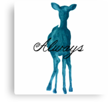 Harry Potter Merchandise ('Always' Quote/Stag) Canvas Print