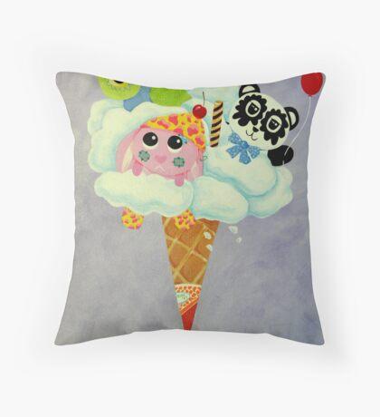 Cream Of The Cloud Throw Pillow
