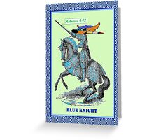 BLU KNITE  ALA VERDE Greeting Card