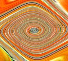 Orange and Lemon Abstract. Sticker