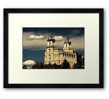 Manti Temple - Summer Light Framed Print