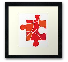 Red puzzle piece Framed Print