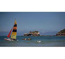 yachts & rocks Photographic Print