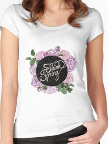Think spring Women's Fitted Scoop T-Shirt