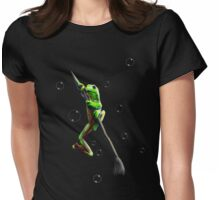 froggie on a paintbrush Womens Fitted T-Shirt