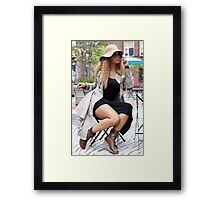 An Afternoon At D.U.M.B.O. Plaza  Framed Print