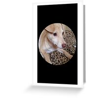 "Our Greyhound,Chihuahua Mix Puppy ""Honey Bun "" Greeting Card"