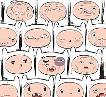 The many faces of Finn the human by animepie