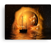 Molten Sunset Canvas Print