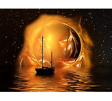 Molten Sunset Photographic Print