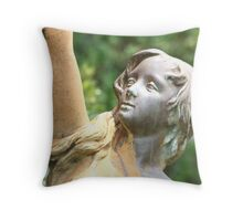 Lady of The Fountain Throw Pillow