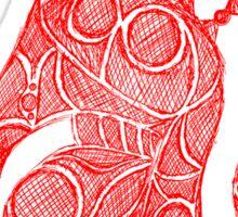 spartan helmet sketch Sticker