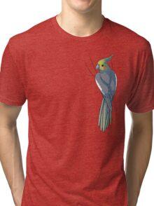 Normal Gray Female Cockatiel Tri-blend T-Shirt