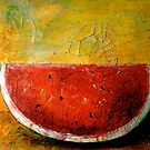 Folk Art Melon  by  Janis Zroback