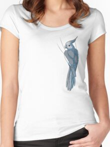 Whiteface Female Cockatiel Women's Fitted Scoop T-Shirt