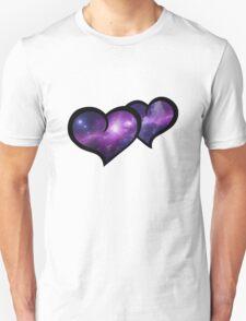 Galaxy Infinity Hearts Unisex T-Shirt