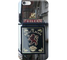 The Red Lion Ale and Pie House iPhone Case/Skin