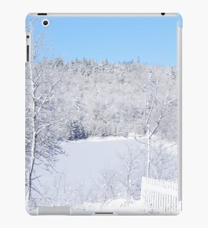 White Snow And Blue Skies iPad Case/Skin