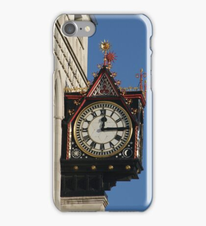 Clock at the Royal Courts of Justice iPhone Case/Skin