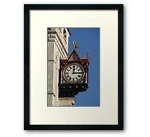 Clock at the Royal Courts of Justice Framed Print