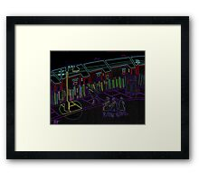 Northern Street scene Framed Print