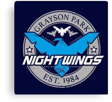 Grayson Park Nightwings Grey Blue (02 of 04) Canvas Print