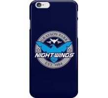 Grayson Park Nightwings Grey Blue (02 of 04) iPhone Case/Skin