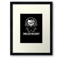 Hello Helmet Framed Print
