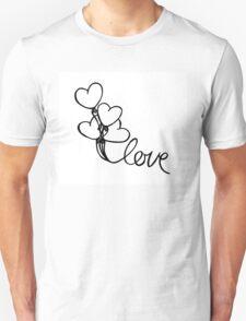Love Balloons Valentine's Day Unisex T-Shirt