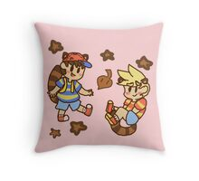 Tanooki cuties Throw Pillow