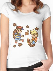 Tanooki cuties Women's Fitted Scoop T-Shirt