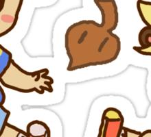 Tanooki cuties Sticker
