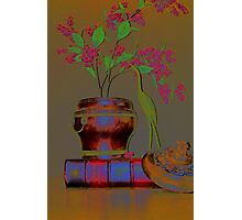 Pink Berries with Book Photographic Print