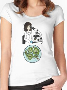 Biology with Pokemon ! Women's Fitted Scoop T-Shirt