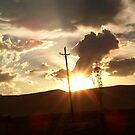 desert sunset by David owens
